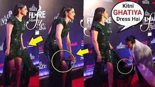 Ankita Lokhande EMBARRASSING Dress Moment At Filmfare Awards 2019