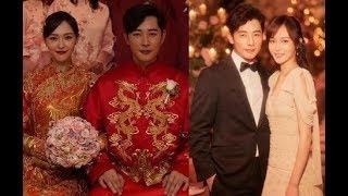 Đám cưới Đường Yên - La Tấn: Chi tiết về không gian tiệc, thiệp cưới, váy cưới...