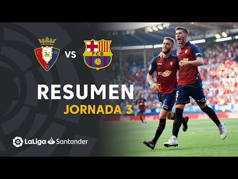 Resumen de CA Osasuna vs FC Barcelona (2-2)