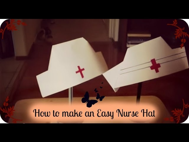 f03eed778ad How to make an Easy Nurse Hat - YouTube
