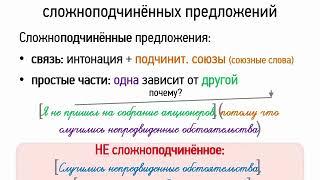 Строение сложноподчинённых предложений (9 класс, видеоурок-презентация)