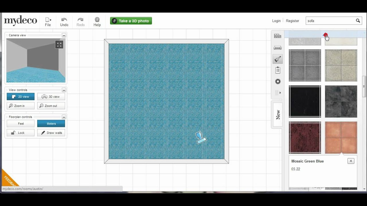 Mydeco 3d Room Tutorial How To Change Flooring Youtube