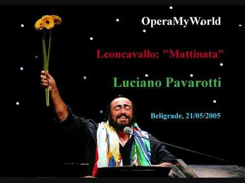 """Luciano Pavarotti sings """"Mattinata"""" Live in Belgrade (21 May 2005) Farewell Tour"""