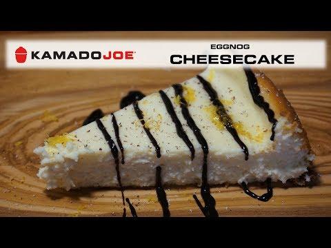 Kamado Joe Eggnog Cheesecake