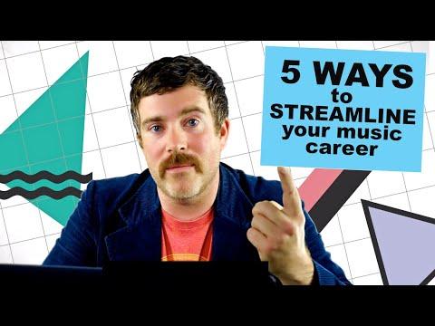 5 ways to streamline your music career