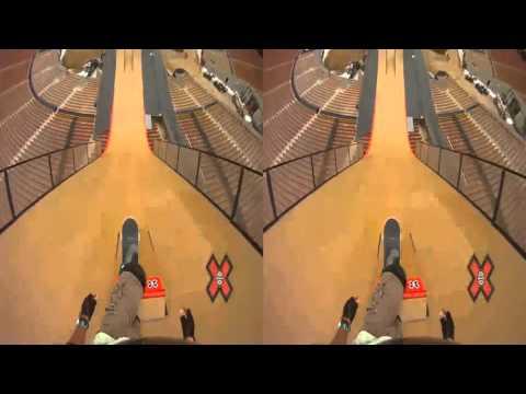 GoPro HD  Skateboard Big Air with Andy Mac   X Games 16 3d sbs vr