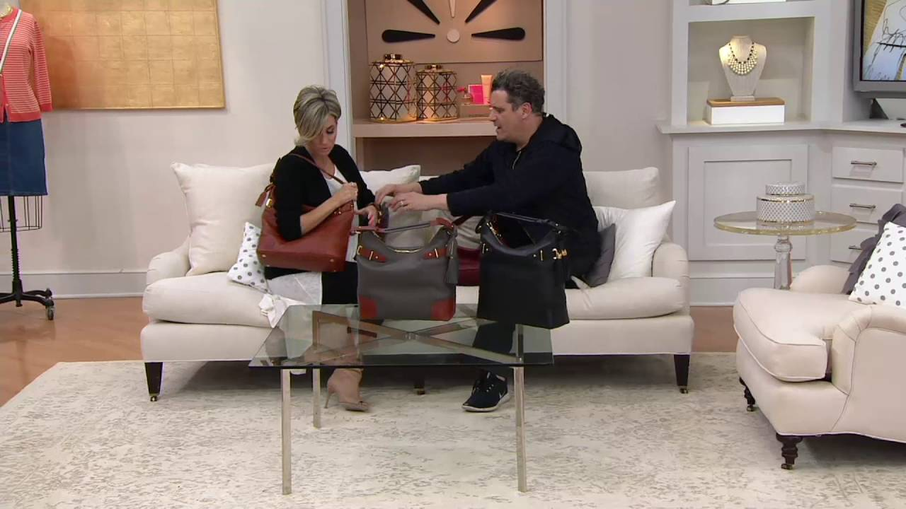 Bridgehampton Pebble Leather Hobo Handbag On QVC