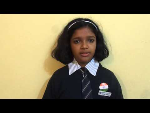 Independence Day Speech by a Silver Oak Student, Nashik