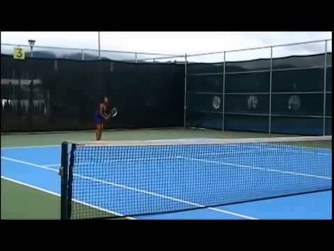 Nancy Perez - Tennis Match Recruiting video for fall 2015