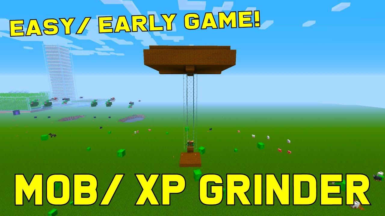 EASY MOB/XP FARM Minecraft 10.106+ (Tutorial)