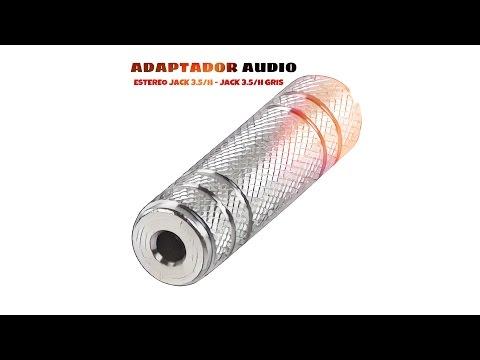 Video de Adaptador audio estereo JACK 3.5/H - JACK 3.5/H  Gris