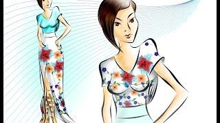 "Speed Painting   Corel DESIGN CONTEST 2015 Categoria Textil  ""springtime"""