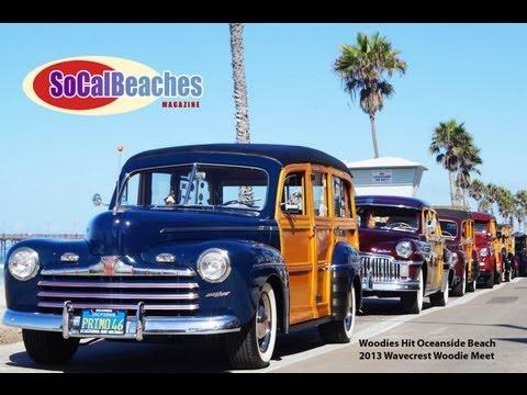 Woody Classic Cars Cruise the Beach Oceanside Ca