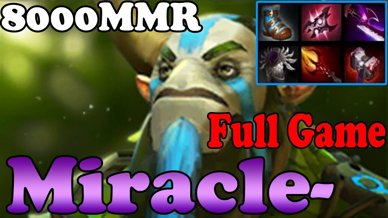 dota 2 miracle 8000mmr plays nature prophet full game