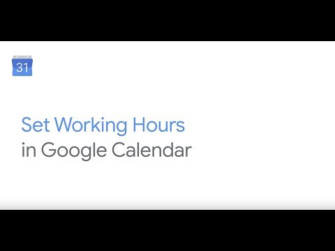 How To: Add working hours in Google Calendar