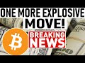 BITCOIN: 1 MORE EXPLOSIVE MOVE! LIFE CHANGING MONEY STARTS HERE! $14k BTC COMING? ALTCOIN BLAST OFF!