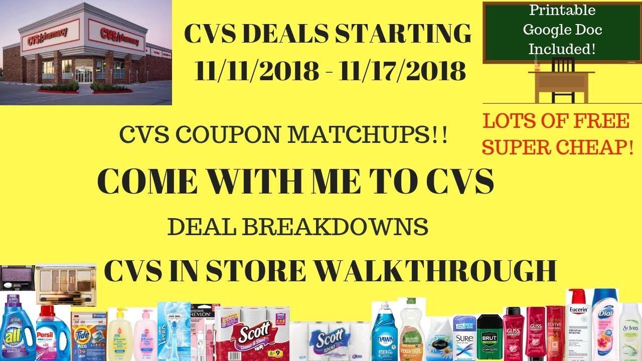 cvs deals starting 11  11  18