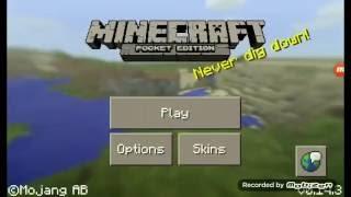 Minecraft Pocket Edition:Making underground ladders