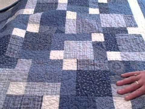 Disappearing 9 Patch Baby Quilt Youtube