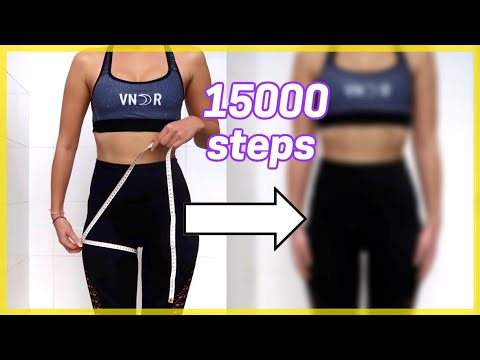 I walked 15000 steps EVERY DAY for ONE MONTH *skinnier legs?*