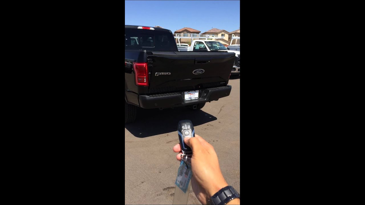 2015 Ford F-150 Remote Tailgate Release - YouTube
