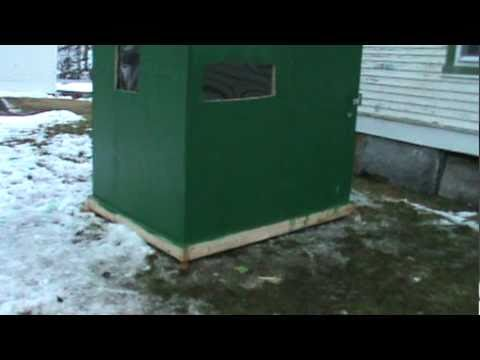 Outdoor Survival: Our Finished Ice Fishin' Shanty