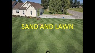 Leveling Kentucky Bluegrass lawn with SAND
