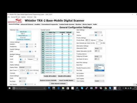 Whistler TRX-2 Tutorial 1 V-Scanner-Folders
