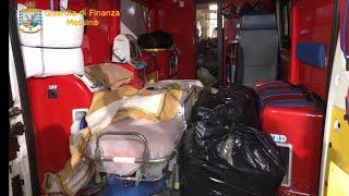 L'ambulanza è imbottita di droga per attraversare lo Stretto: scoperta allo sbarco a Messina