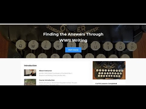 What's New at the WWII Research & Writing Center in March 2018?