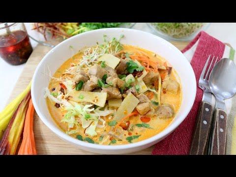 Coconut Noodle Soup ขนมจีนผักเยอะ - Episode 135