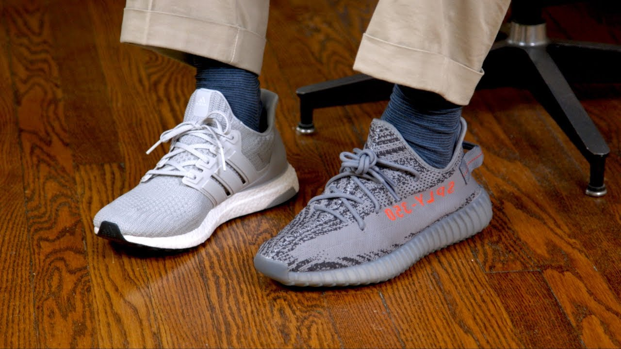 d033b9d49 Yeezy 350 V2 vs. adidas Ultra Boost - YouTube