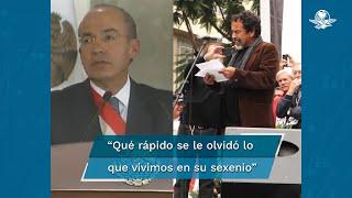 """El actor Damián Alcázar dice al expresidente Felipe Caderón: """"El Infierno"""" está basada en su sexenio, pero por humildad no aceptará que la inspiró"""