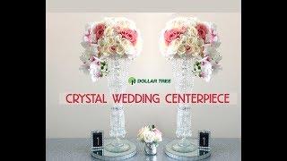DIY Dollar Tree Tall Crystal Wedding Centerpiece -Easy - $13