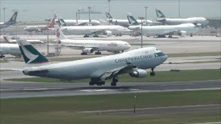 Hong Kong Airport Plane Spotting. Takeoffs and Landings with Full Airport View thumbnail