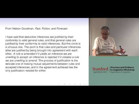 Structure, evidence and the epistemology of syntax -- G. K. Pullum