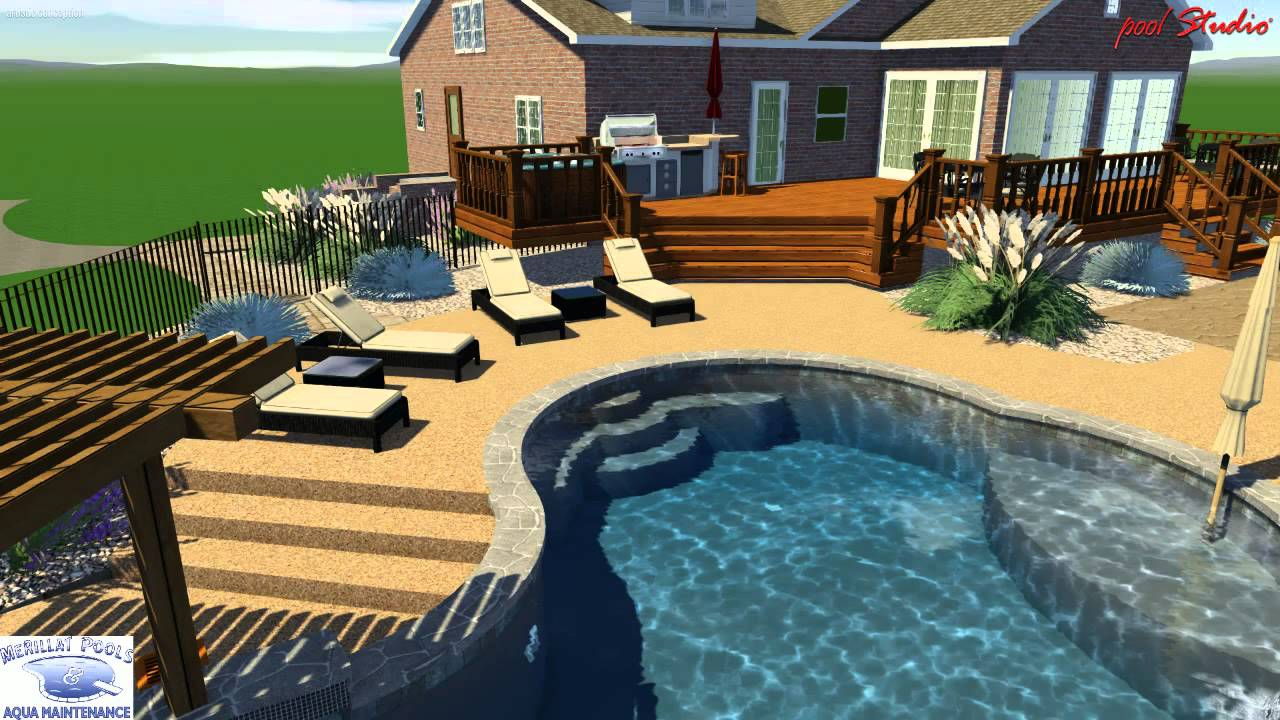 Andrews pool studio merillat pools 3d swimming pool for How to design a pool