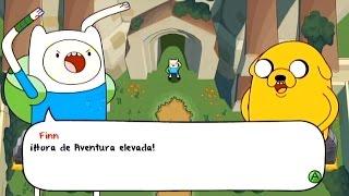 HORA DE AVENTURAS : EL SECRETO DEL REINO SIN NOMBRE (xbox 360) intro gameplay en español
