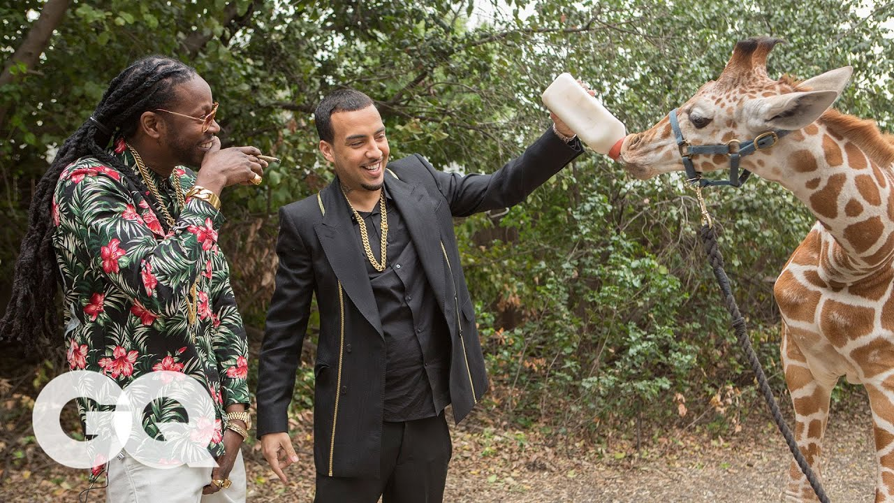 2 Chainz & French Montana Feed a $40K Giraffe | Most Expensivest Sh*t | GQ