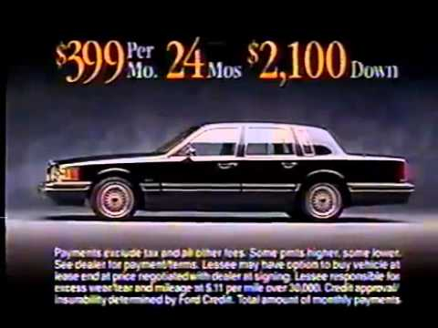 1995 Lincoln Town Car Commercial Youtube