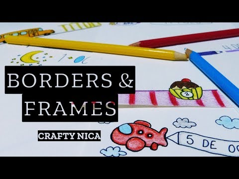 NEW BORDER DESIGNS 📚  BORDERS and FRAMES for cards, school projects & planner decoration ideas
