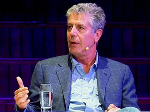 Bourdain and Gill on Animal Cruelty and Worker Rights