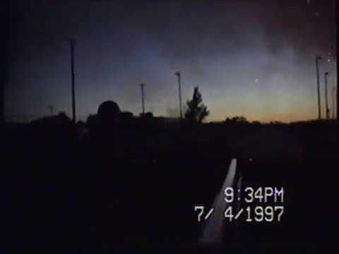 Fort Scott Kansas Fireworks Show July 4th 1997