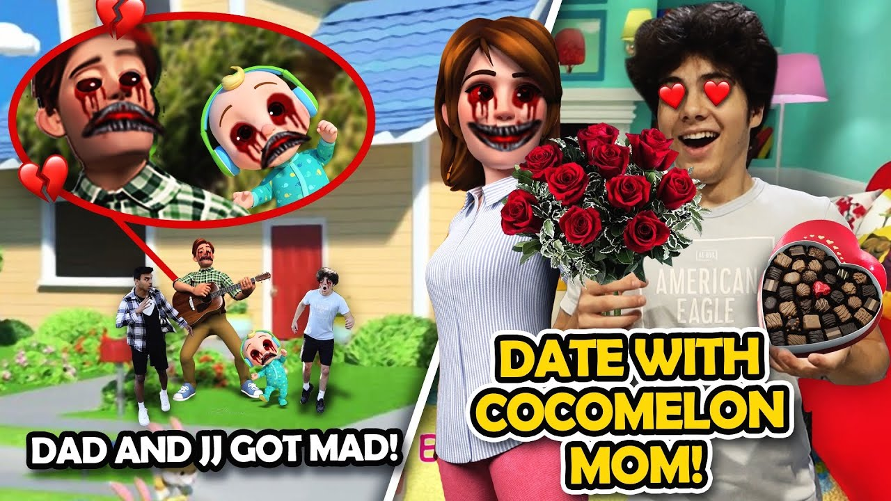 GOING ON A DATE WITH CREEPY COCOMELON MOM IN REAL LIFE!! (COCOMELON DAD AND JJ GOT MAD)
