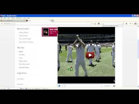 Joomla Video Player Installation Video