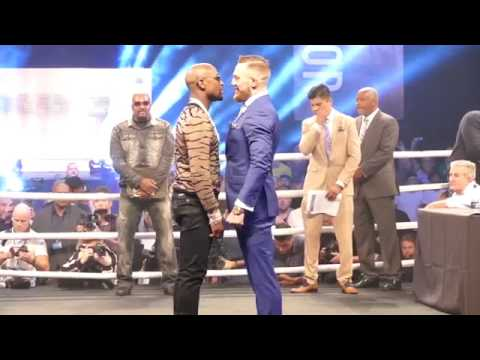 Thumbnail: Floyd Mayweather Jnr V Conor McGregor faceoff LONDON