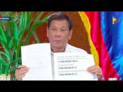 Duterte: I 'invented' bank account number of Trillanes