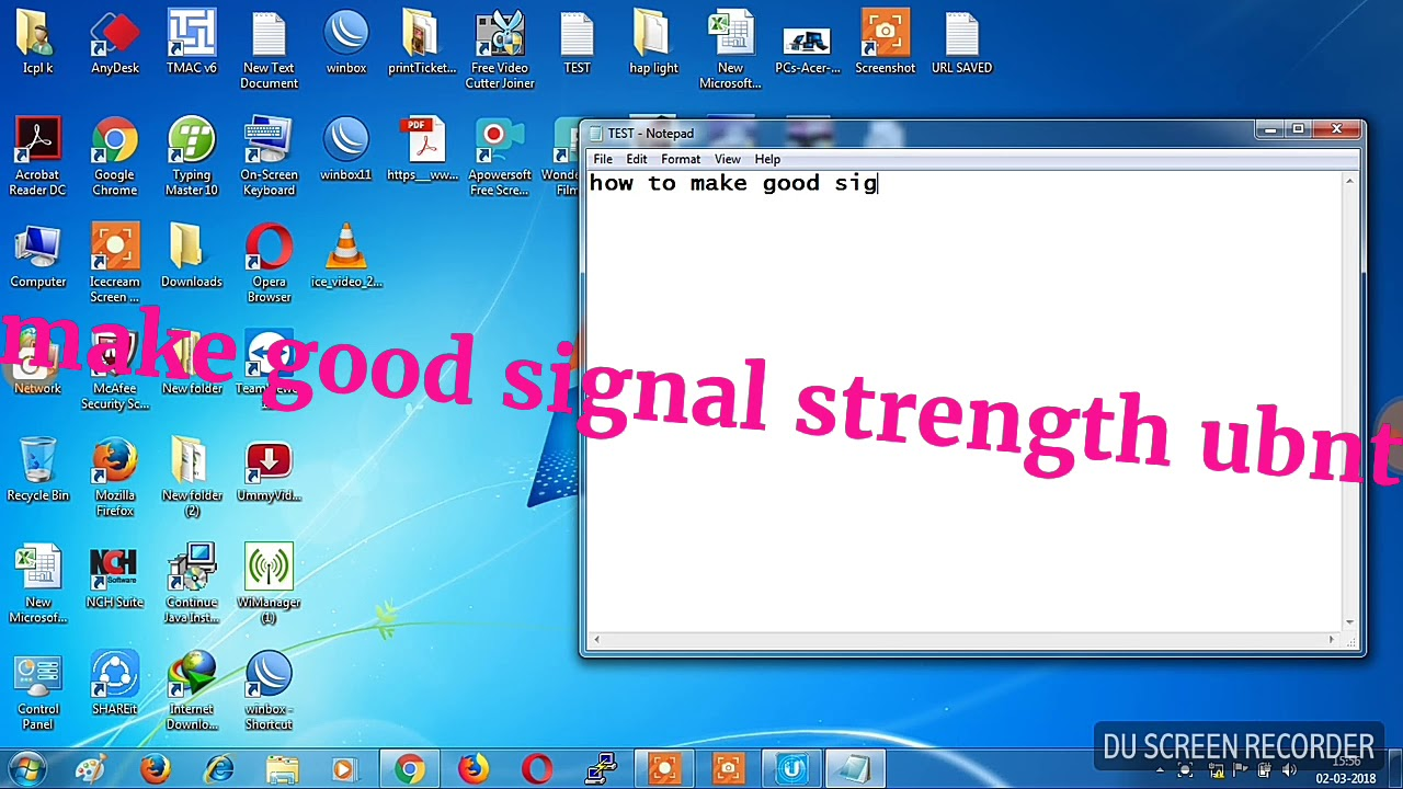 Make good signal strength in ubnt
