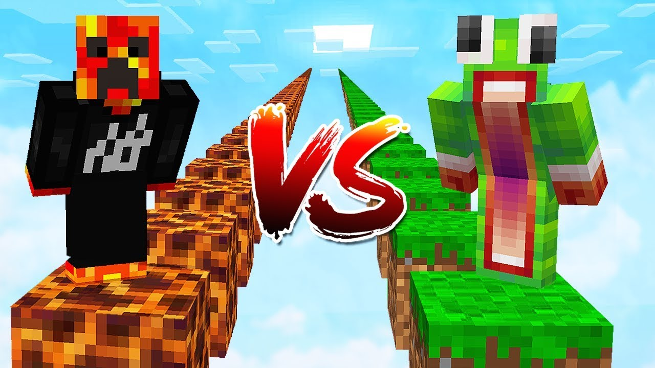 PRESTONPLAYZ vs UNSPEAKABLEGAMING! (1v1 Minecraft Parkour Race)