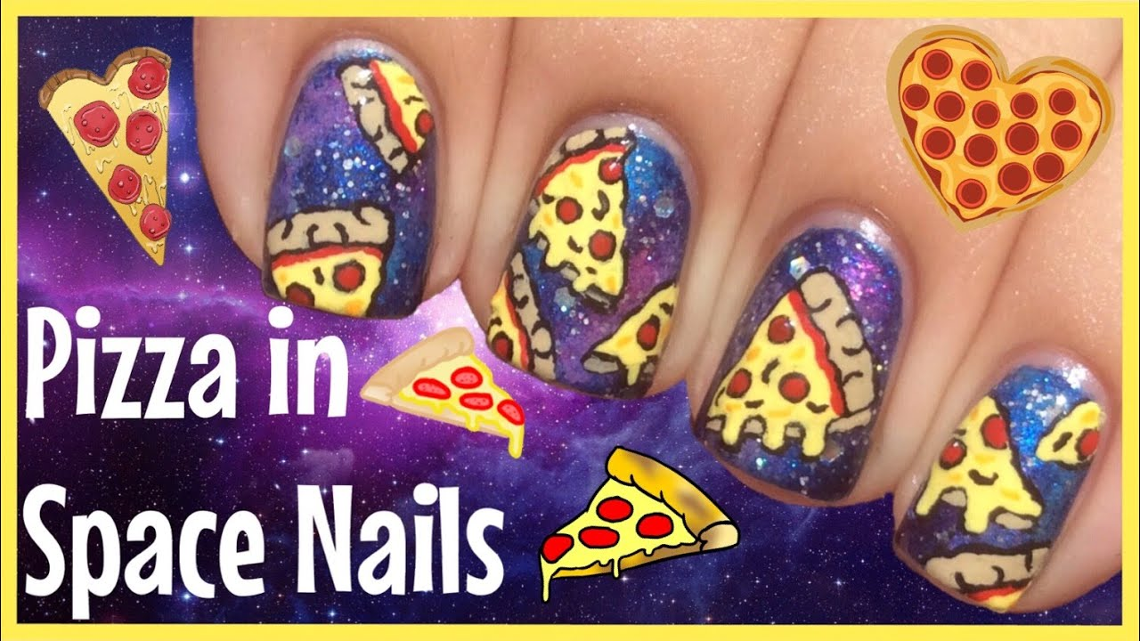 Pizza Nail Art Tutorial - YouTube
